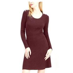 Maison Jules Ribbed Sweater Dress